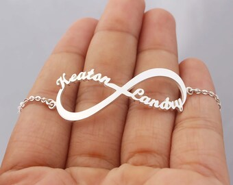 20% OFF** Infinity Symbol Name Bracelet  - Name Bracelet - Perfect Gifts