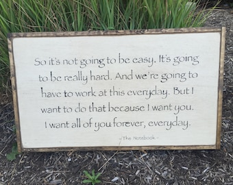So it's not going to be easy, LARGE Framed Wall Sign