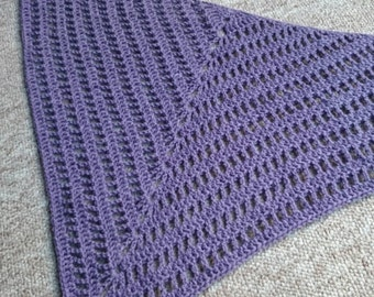 Purple Merino Wool Neck Warmer/Shawl