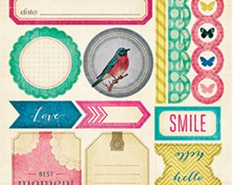 SALE! Labels & Borders - Maggie Holmes Signature Cardstock Sticker  (683156)