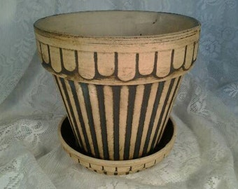 Antique Arts and Crafts Bisque Planter
