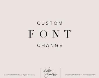 Add-On Listing | Custom Font Change for Premade Logo Design