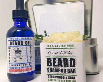 Beard Kit - Valentine's Gift for Men- Beard Oil - Beard - Beard Care Kit - Beard Grooming Kit - Beard Shampoo - Beard Soap