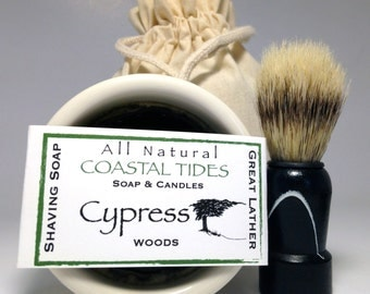 Shave Kit - Mens Shaving Kit - Shave Soap - Shave Brush - Shaving Brush - Bowl - Cedarwood Blend- Woodsy and Masculine