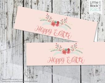 Easter Treat Bag Topper Printable | Floral Design - Digital File