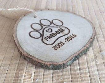 Christmas Ornaments, pet gift, paw print, Custom Dog Ornament, custom pet ornament, pet memorial gift, pet loss gifts, pet keepsake
