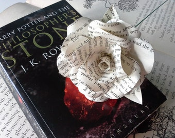 Harry Potter Book Page Paper Flower - handmade flower