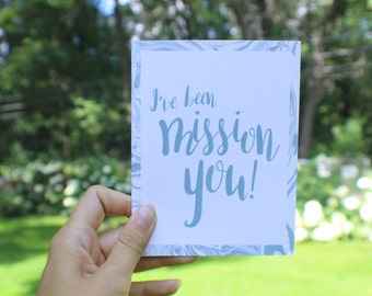 Mission You - Missionary Greeting Card