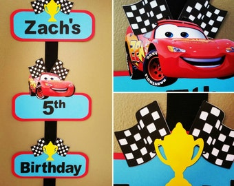 Disney Cars Welcome Door Sign, Disney Cars Door Sign, Disney Cars Welcome Sign, Disney Cars Birthday Party, Lightening McQueen Party
