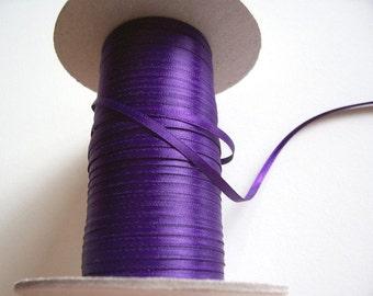 "New Double Faced Regency Satin Ribbon 1/4"" wide. Purple 1/4"" Satin Ribbon"