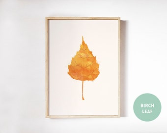 Leaf wall art, autumn wall art, seasonal art, Thanksgiving print, fall leaves, watercolor leaves print, autumn watercolor,Thanksgiving decor