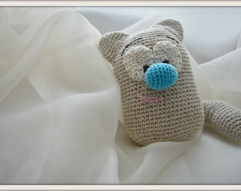 Crochet cat/ Amigurumi cat/ Toy cat/ Crochet toy/ Natural yarn toy