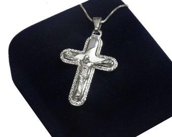 Christian Jewelry Silver Cross Cross Pendant Sterling Silver Religious Jewelry Silver Pendant Cross Necklace Cross Charm Sterling Cross
