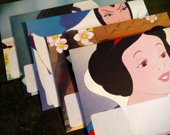 Handmade Envelopes Disney's Snow White and the Seven Dwarfs. Pack of 5