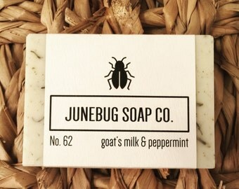Goat Milk & Peppermint Bar Soap - Peppermint Soap, Mint Soap, Natural Soap, Peppermint Oil, Handmade Soap, Goat Milk Soap, Homemade Soap