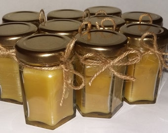 Set of 10 Handmade Beeswax Candle Jars