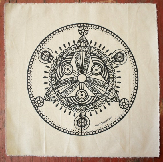 sacred geometry celtic trinity crystal grid altar cloth