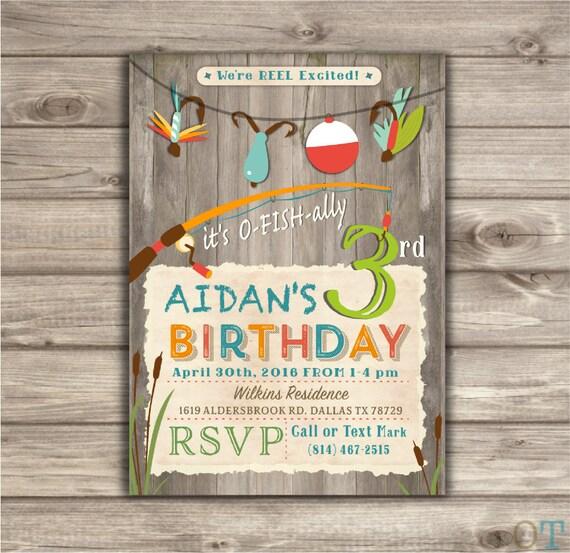 Fishing Birthday Invitations We Re Reel Excited Printable