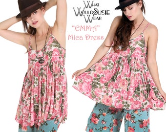 Pink Rose Boho Floral Babydoll Dress Just Two Left Size Small