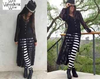 Black Lace Duster Jacket/Coat/Rita Duster