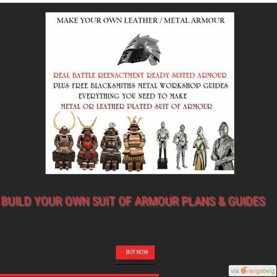 Build / make your own LARP cosplay roleplay suit of Body Armour how to guides plans Medieval reenactment leather samurai & metal knights