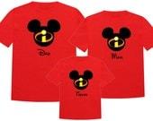 INCREDIBLES Disney Vacation Group Shirts