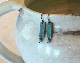 Gentle Breeze copper drop earrings EA062