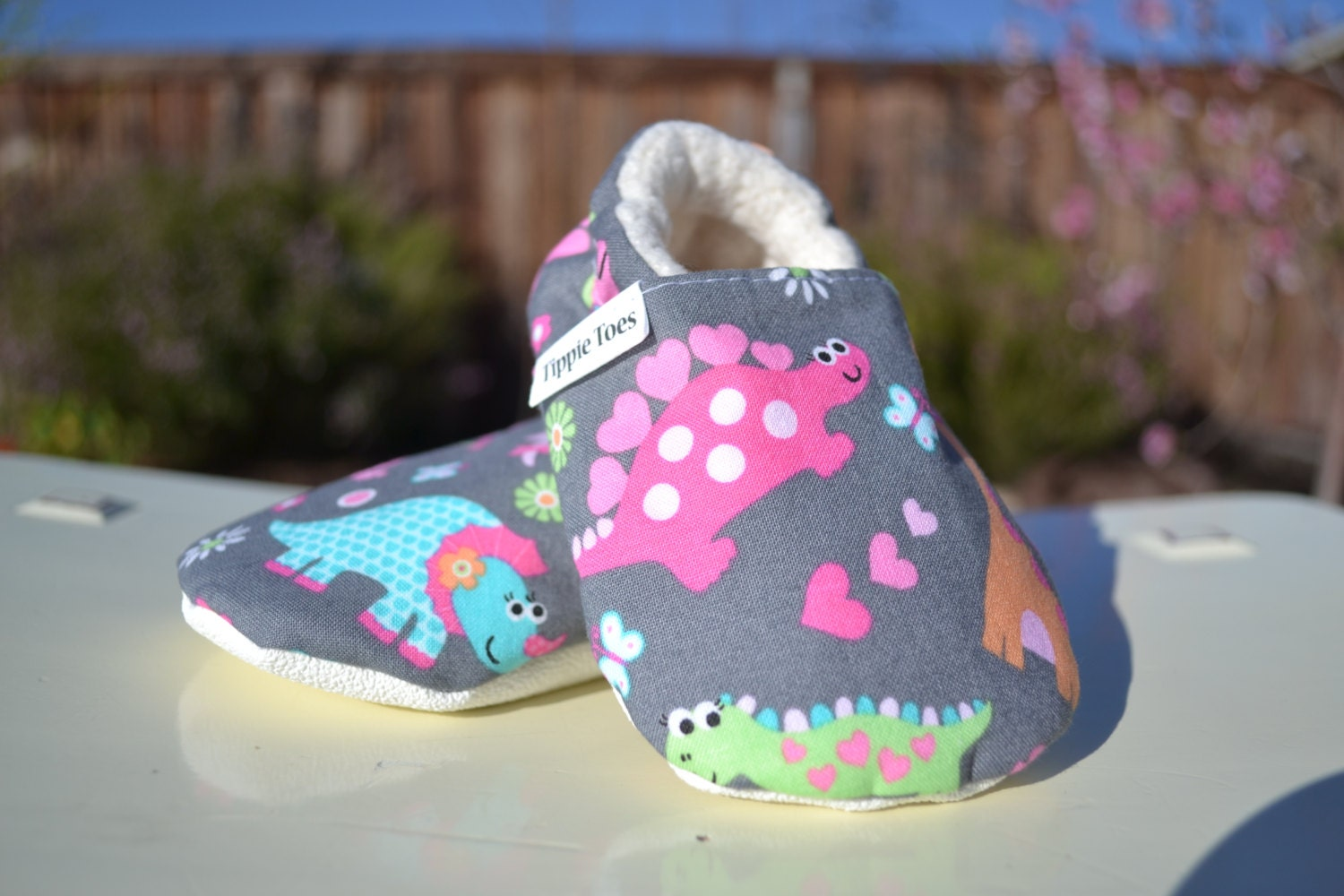 Girly dinosaur shoes girl dinosaur outfit baby shoes baby for Girly dinosaur fabric