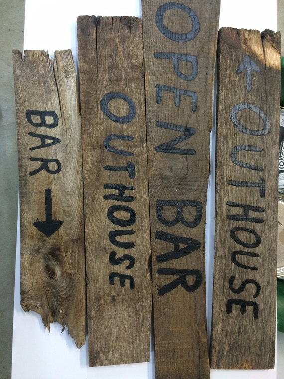 Rustic Bar Wall Decor : Items similar to wall signs rustic bar decor on etsy