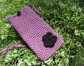 Lilac Cell phone cross body bag