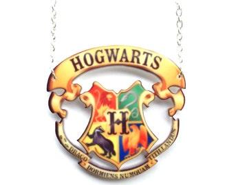 Hogwarts charm necklace