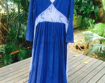 Vintage 70s indian cotton maxi dress