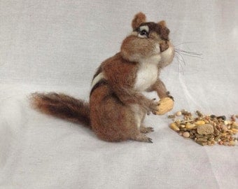 Needle Felted Chipmunk Made to Order
