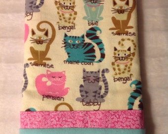 Cats flannel Pillowcase