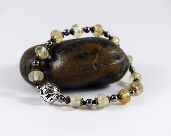 Yellow Gemstone Stretch Bracelet
