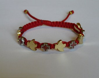Holy spirit bracelet with mixed medal