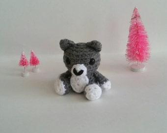 Mini Amigurumi Wolf Kawaii Stuffed Animal Chibi Plush Toy