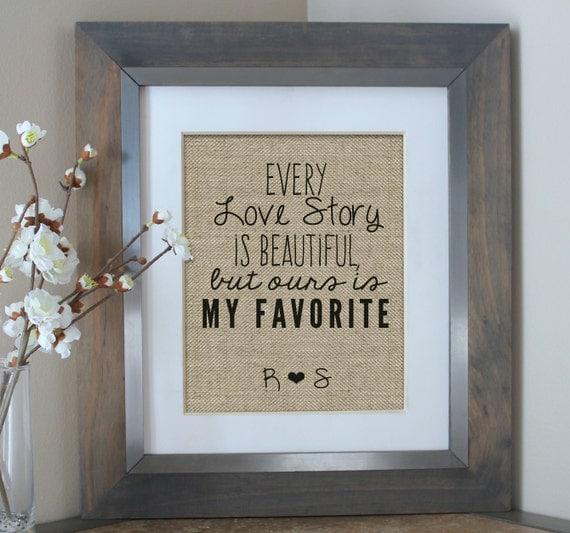 love story print boyfriend gift anniversary por emmaandthebean ...
