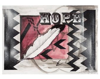 Hope- 15 x 11 inch Gliclee Cold Print