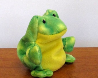 frog finger puppet template - the puppet plush etsy
