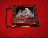 Coke Santa Claus Metal HANDLED TIN 1994