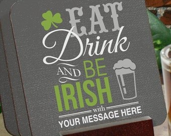 Personalized Irish Welcome Coaster Set, Be Irish Cosater Set