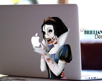 Snow White Decal, Zombie Snow White, Zombie, Macbook Decal, Snow White Revenge Decal, Snow White MacBook Pro Sticker, MacBook,Halloween Gift