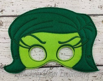 Disgust Emotion Children's Mask  - Costume - Theater - Dress Up - Halloween - Face Mask - Pretend Play - Party Favor