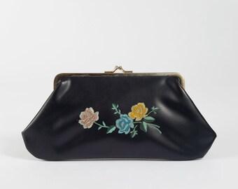 Vintage Clutch with Floral Design