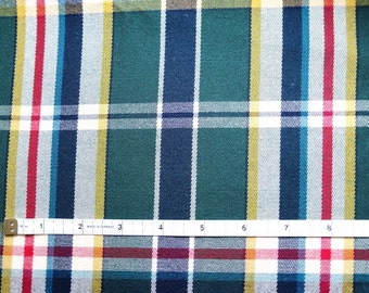 Ralf Lauren Home collection/Upholstery fabric scrap/ 1.1yard/cotton fabric/plaid& checks /sewing projects/upholstery/pillows/fabric bags