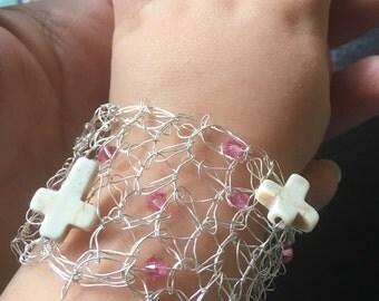Child wire crochet bracelet #1