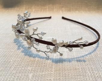 Side pearl tiara