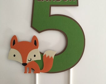 Fox Cake Topper | Woodland Critters Cake Topper | Woodland Party Decor | Fox Party Decor