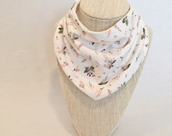 Baby Bib - Drool Bib - Organic Cotton/Bamboo Terry - Pink Petite Floral